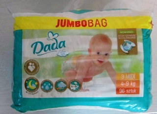 DADA EXTRA Soft JUMBO BAG VEL.3 - 96 KS (4-9 KG)